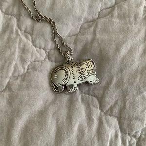 Brighton Ellie Elephant Swarovski necklace